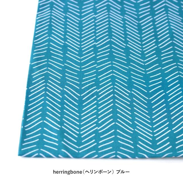 """【ネコポス対応】Scandinavian Handkerchief """"herringbone""""【ANGERS Original】"""