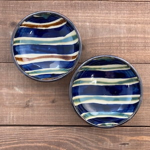 5寸まんじゅう鉢/横線柄