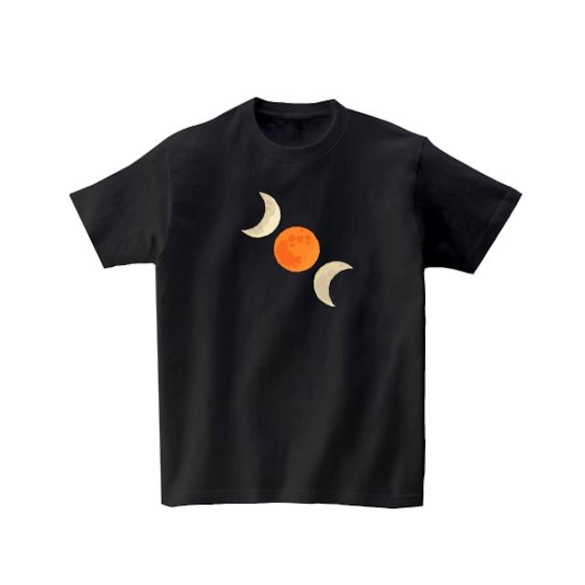 宇宙Tシャツ-月食2(ブラック)