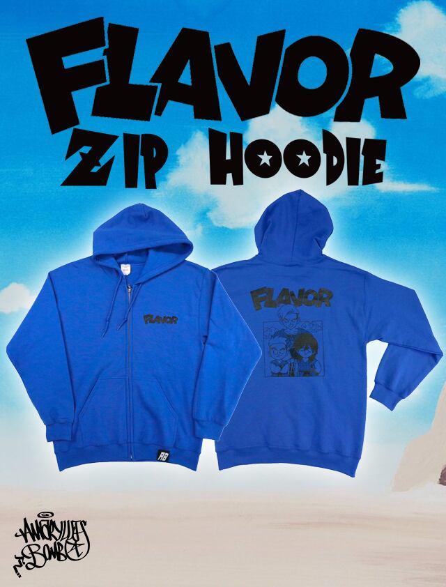 FLAVOR ZIP HOODIE -Blue-