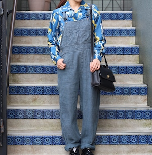 USA VINTAGE LINEN OVERALL/アメリカ古着リネンオーバーオール
