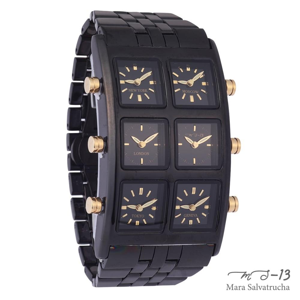 [世界限定100本]【MS-13】腕時計 6TIME ZONE シックスタイムゾーン (カラー:ブラック×ブラック)