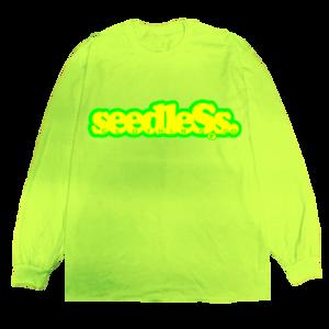 seedless coop fluorescence LS tee 蛍光グリーン サイズL