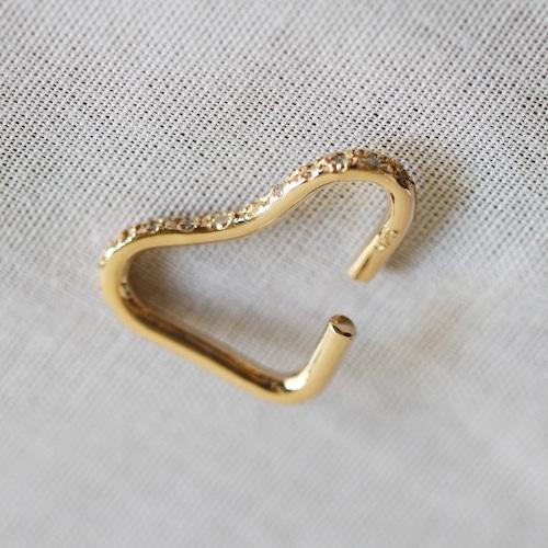 PALA【 womens 】 heart ear cuff / brown diamond