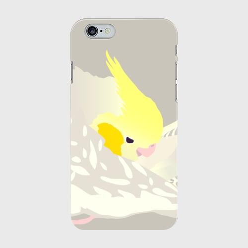 iPhoneケース もふもふオカメインコ シナモンパール【各機種対応】