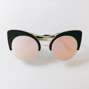 Eyewear♡キャットアイ02 ピンクゴールドミラー