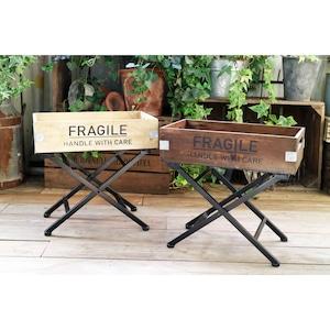 折り畳み可能なスタンド付き木箱 012-WE-909