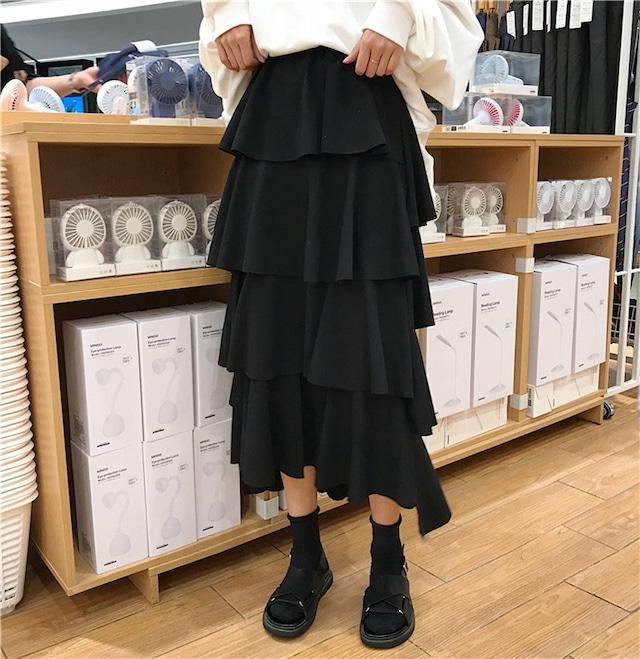 大人かわいいデザインのロングスカート S1715