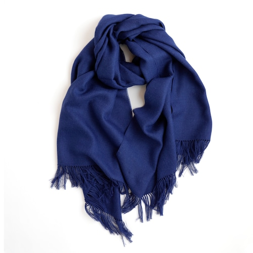 THE INOUE BROTHERS/Non Brushed Large Stole/Navy