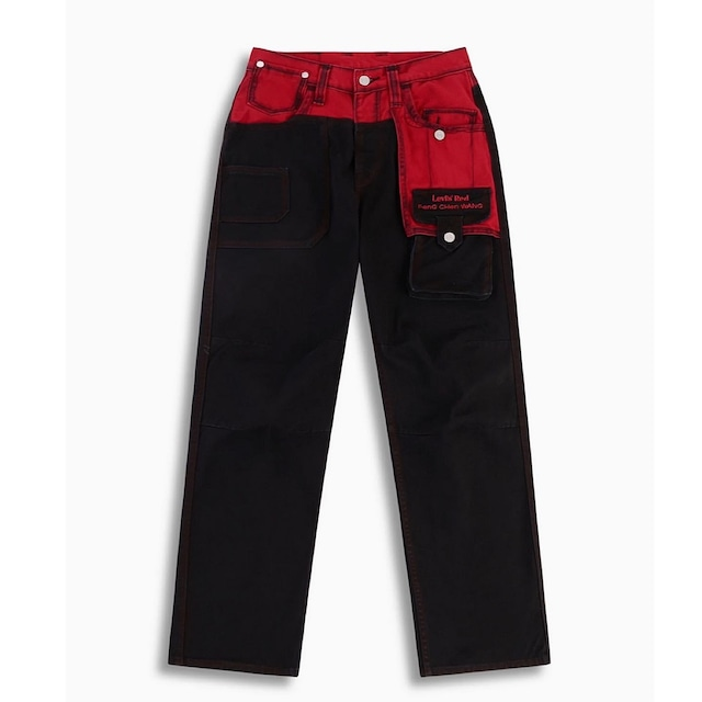 FENG CHEN WANG × LEVI'S RED / COTTON TWILL STRAIGHT LOOSE JEANS