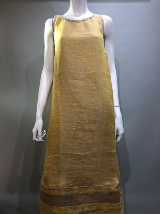 PUROTATTO(プロタット)4115 Col.09(Giallo) 麻コットンロング丈サマードレス イタリア製