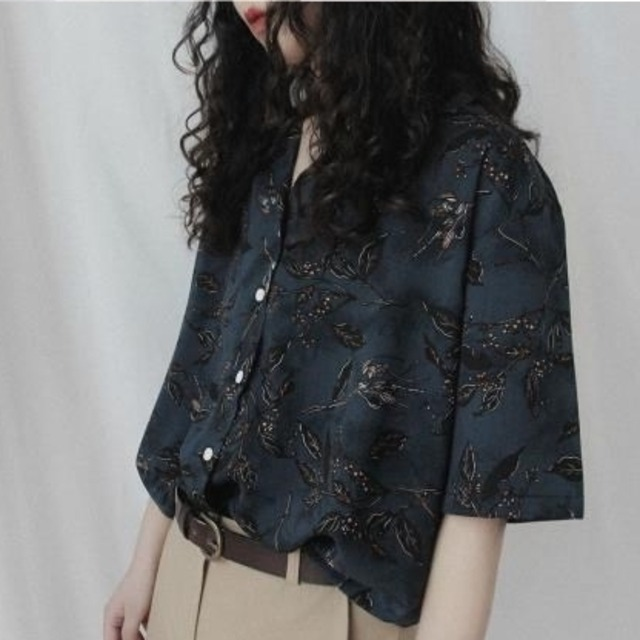 Vintage botanical shirt(ヴィンテージボタニカルシャツ)a-468