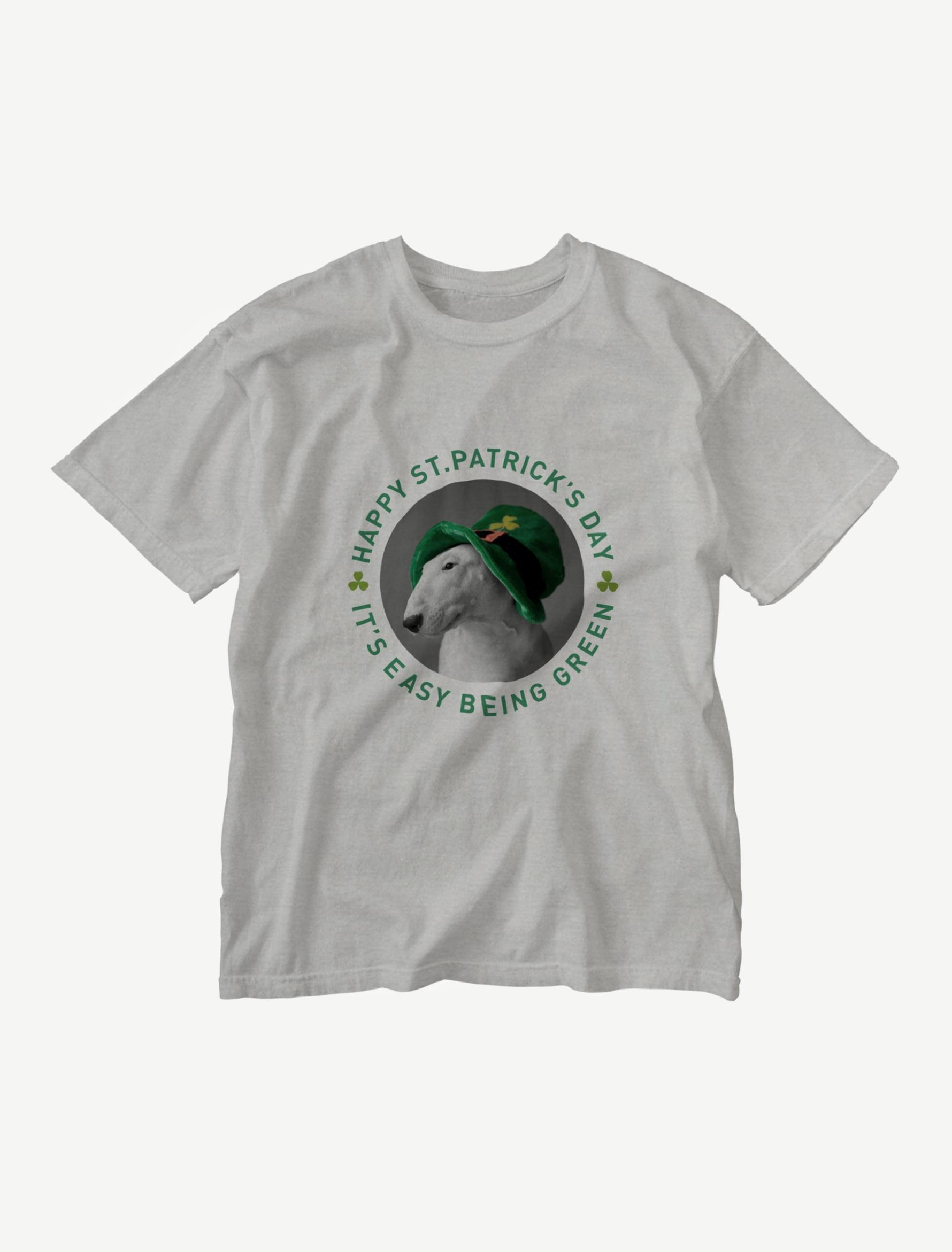 【セント・パトリックス・デー】ウォッシュTシャツ(グレー)