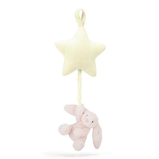 Bashful Pink Bunny Star Musical Pull_BAMS4BP