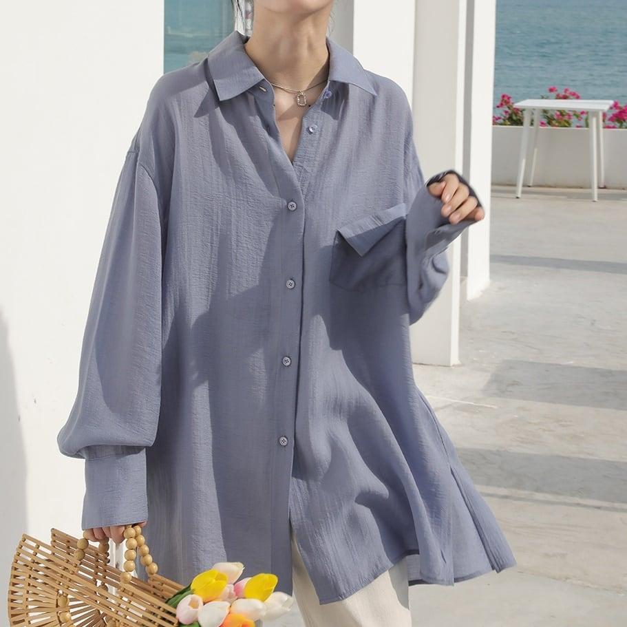 Side slit light shirt(サイドスリットライトシャツ)b-261