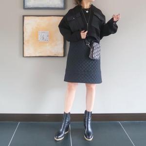 キルティングドッキングスカート(ブラック)