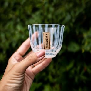 冷茶 グラス 大正浪漫 廣田硝子 3種類 (市松・水玉・十草)