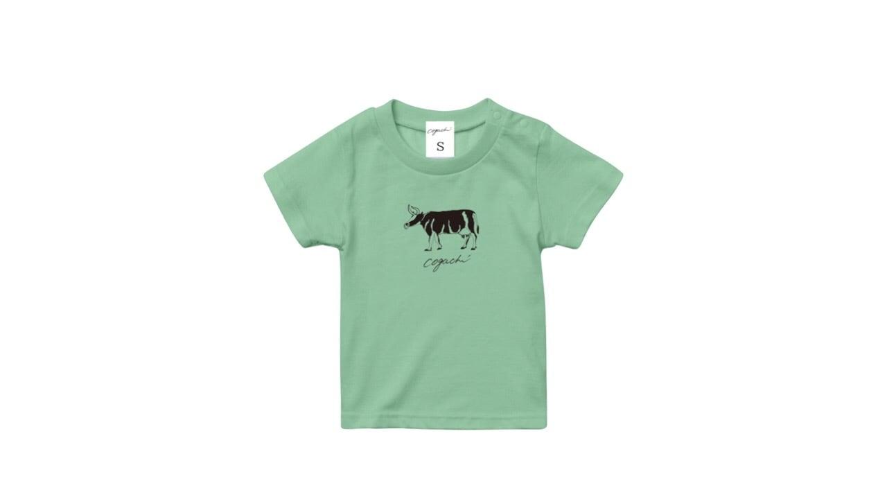 coguchi cow kids Tshirt (GR) 90cm