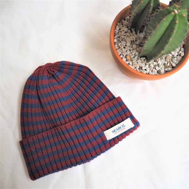 SEARCH. Knit Cap 《WINE&NAVY》17380761