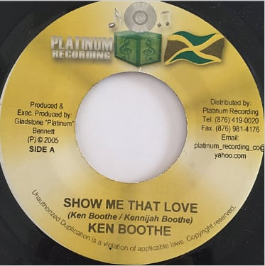 Ken Boothe(ケンブース) - Show Me That Love【7'】