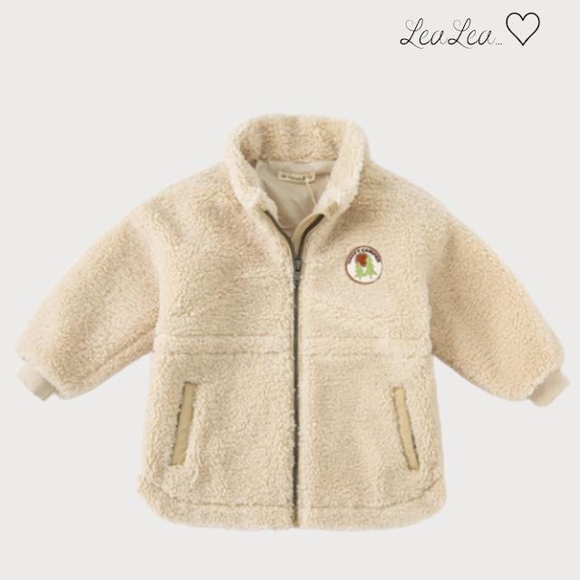 dave&bella2021AW新作♡アップリケ付きフリースジャケット(73cm-160cm)| LeaLea...♡(レアレア)-海外の子供服セレクトショップ