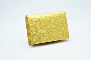 カードケース 金箔・アラベスク柄