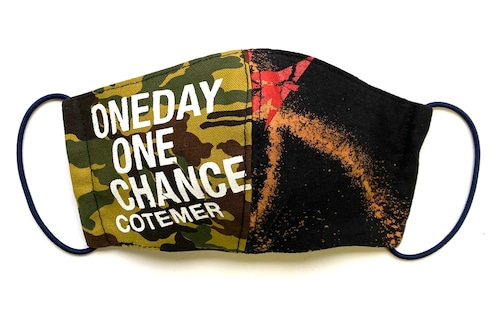 【COTEMER マスク 日本製】ONE DAY ONE CHANCE MILITARY × BLEACH MASK 0427-146