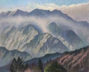 油絵#3「鳳凰三山」F15号