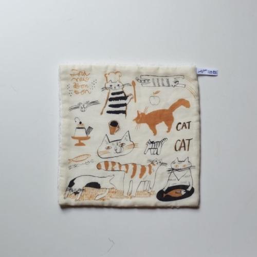 【トラネコボンボン 】パイルガーゼハンカチ 「猫」