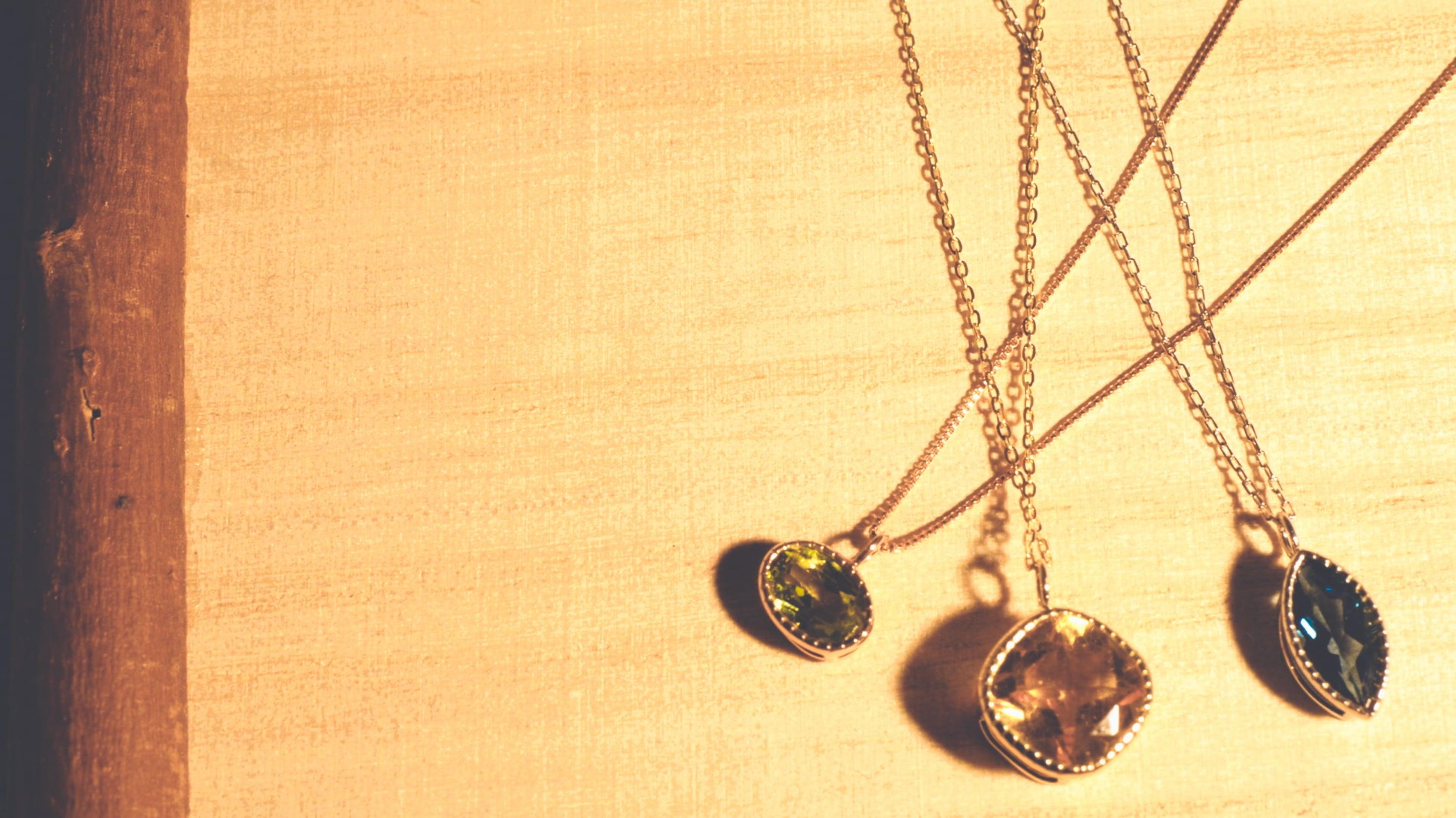【10金】お持ちの宝石をペンダントにオーダー作成 [デザインNo,7]