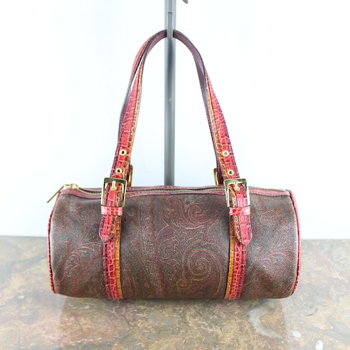 .ETRO PAISLEY PATTERNED MINI BOSTON BAG MADE IN ITALY/エトロペイズリー柄ミニボストンバッグ2000000052007