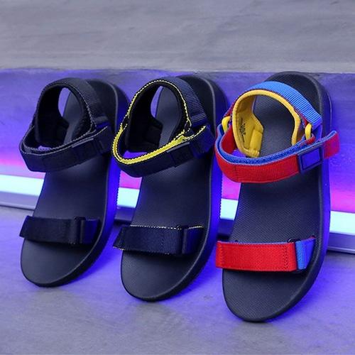 スポーツサンダル フラットサンダル ベルト マジックテープ スポサン 韓国ファッション レディース サンダル フラット かわいい 歩きやすい 617111061604
