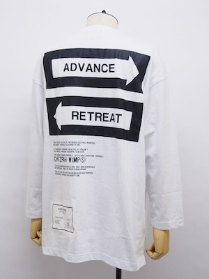 EGO TRIPPING (エゴトリッピング) FORKED ROAD TEE LONG / WHITE 663664-00