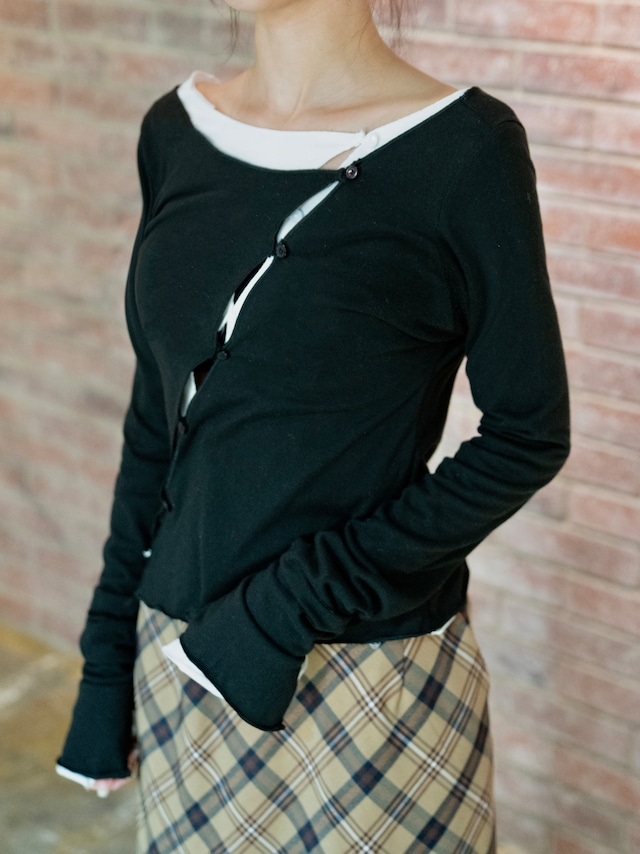 【WOMENS - 1 size】OPEN ROUND LONGSLEEVE / 2colors