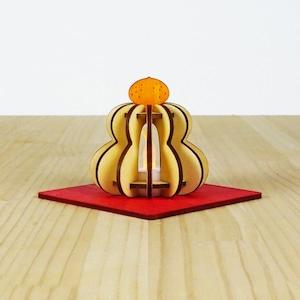 「鏡餅」木製ミニランプ