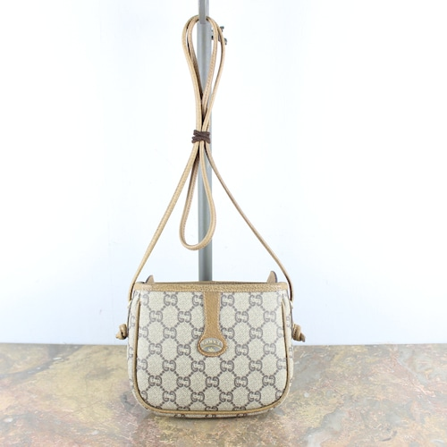 .OLD GUCCI PLUS GG PATTERNED SHOULDER BAG MADE IN ITALY/オールドグッチプラスGG柄ショルダーバッグ2000000051161