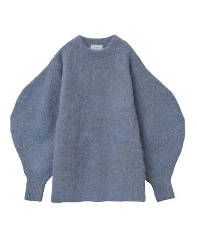 CLANE ROUND SLEEVE MOHAIR KNIT TOPS