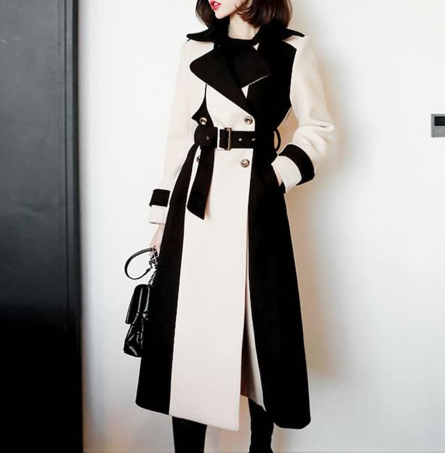 monotone  long  coat