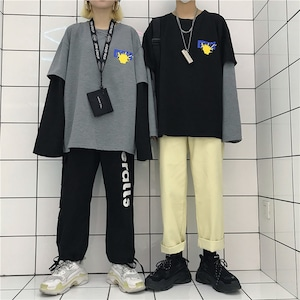 【トップス】長袖プリントファッションTシャツ43008773