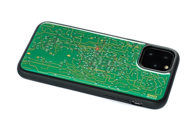 FLASH 関西回路線図 iPhone 11 Proケース  緑【東京回路線図A5クリアファイルをプレゼント】