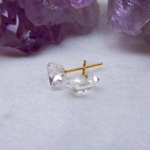 ハーキマーダイヤモンド/K18YG/アメリカ産