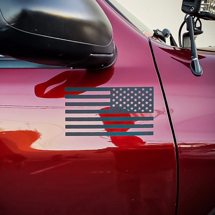 "【 BeyondWraps 】 American flags 7.5"""