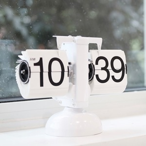 analog flip clock 2colors / アナログ フリップ クロック シンプル 卓上時計 韓国 インテリア 雑貨