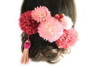 大人の可愛いピンク色*髪飾り