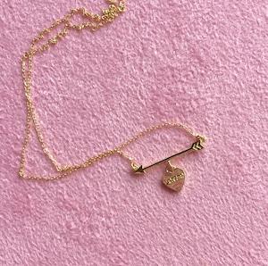 K18YG #0002 HEART ARROW NECKLACE ハートと矢のネックレス/18金イエローゴールド