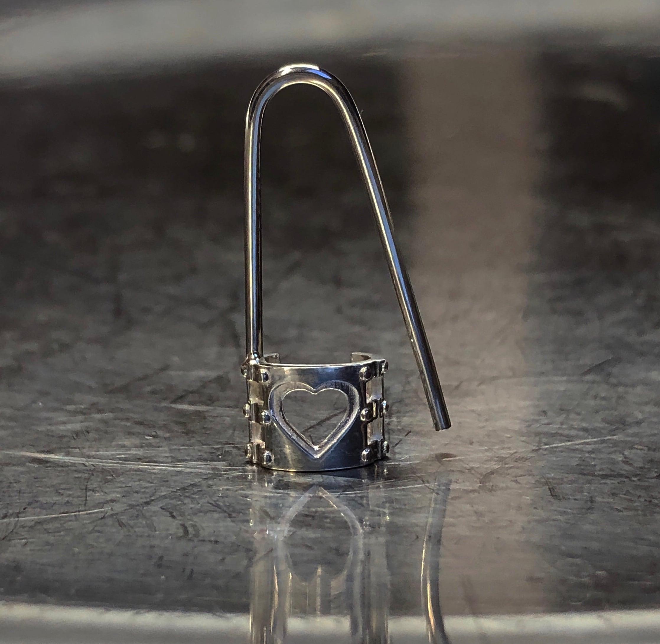 handcuffs pin earring SILVER925/16G  #LJ18020P 手枷 ピン ピアス シルバー925/16G