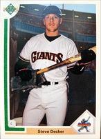 MLBカード 91UPPERDECK Stevet Decker #025 GIANTS STAR ROOKIE