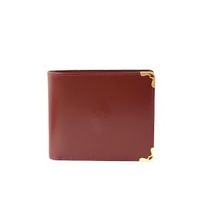 Cartier カルティエ マストライン コーナー金具 二つ折り 財布 ボルドー vintage ヴィンテージ オールド Accessories dhrrve