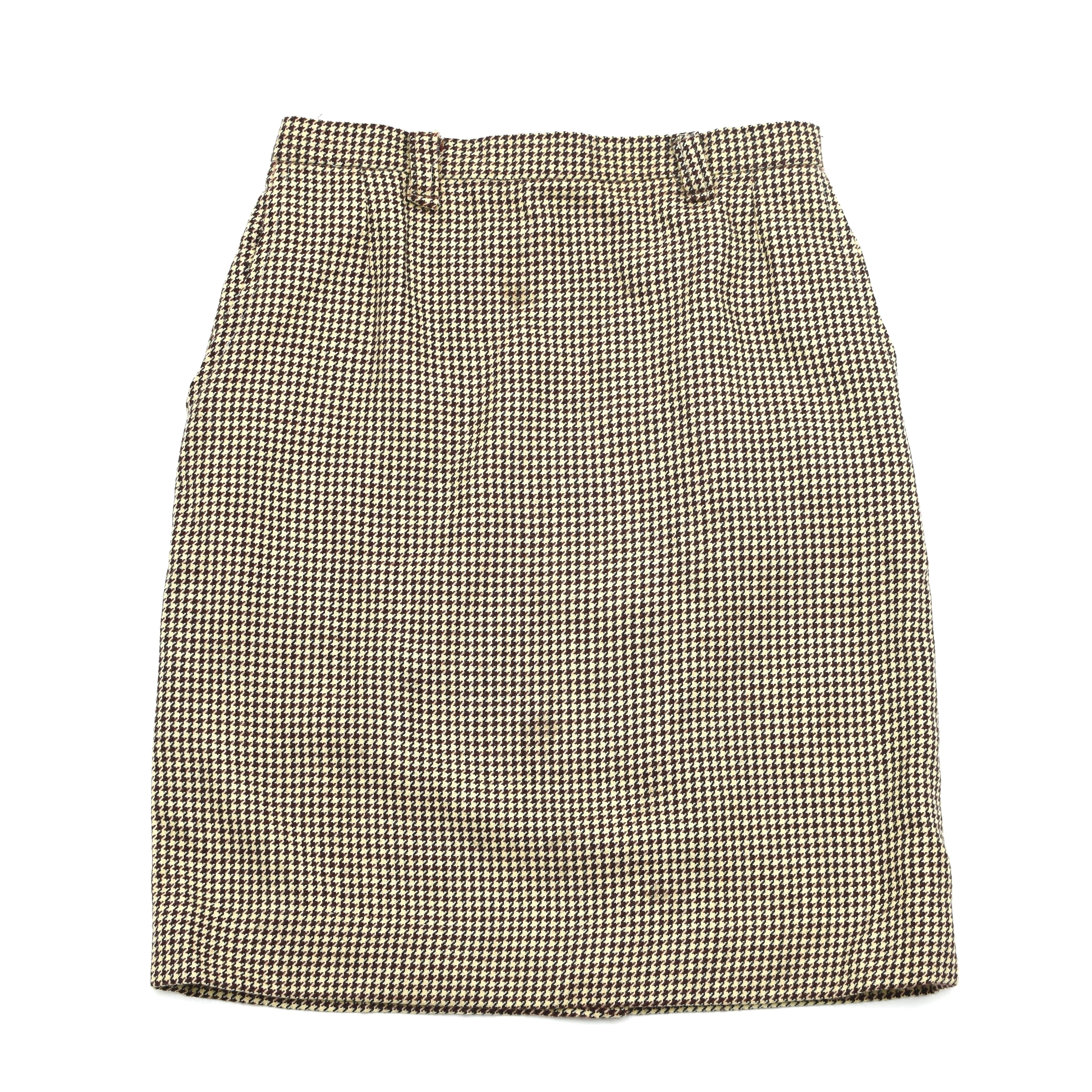 Vintage Houndstooth check tight skirt