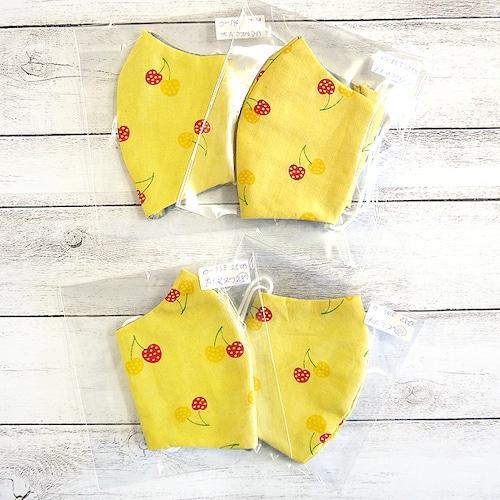 【柚希】立体布マスク(さくらんぼ)・レディースサイズ/マスク